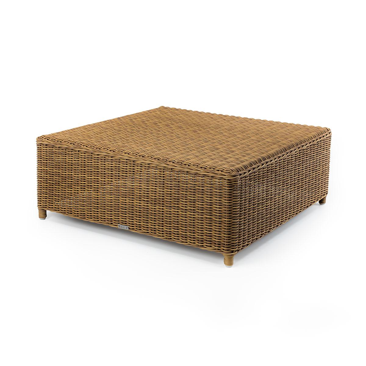 Tavolino salotto quadrato Cloe Braid
