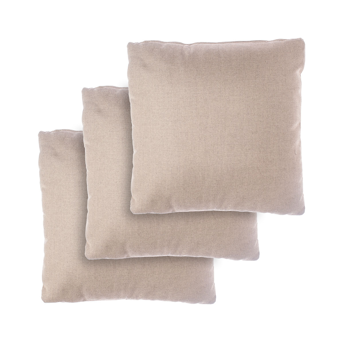 Set of 3 small pillows for 3-seater sofa Zoe Braid